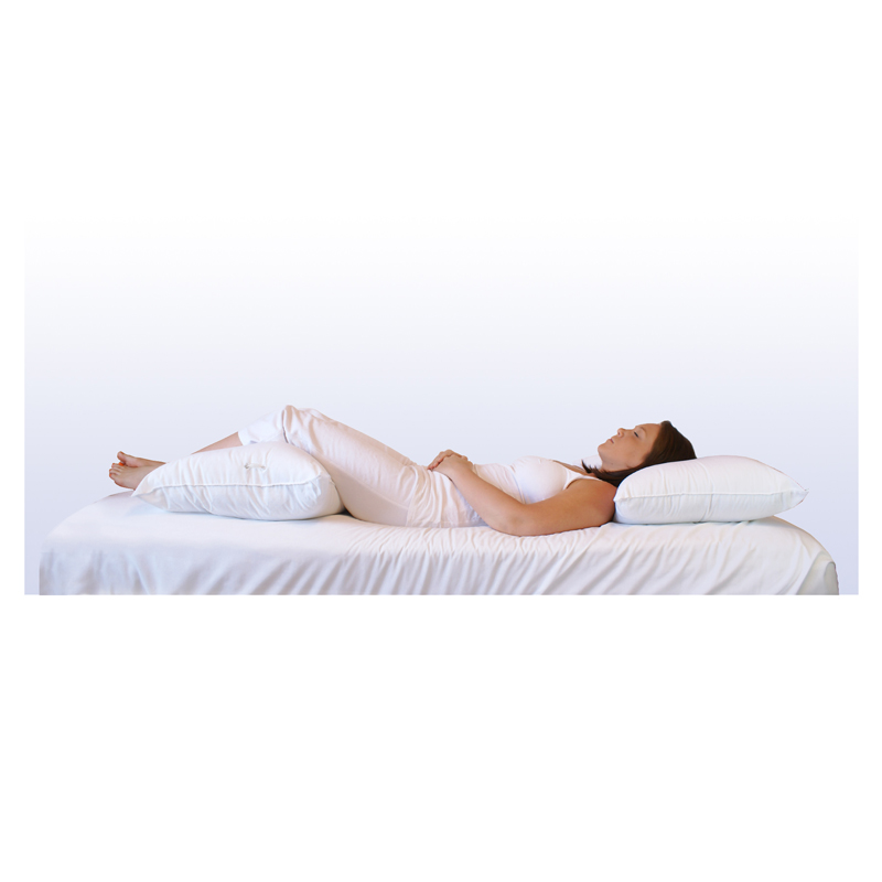 Back pain b39gone support system pillow bicor pillows for Body pillow to help back pain